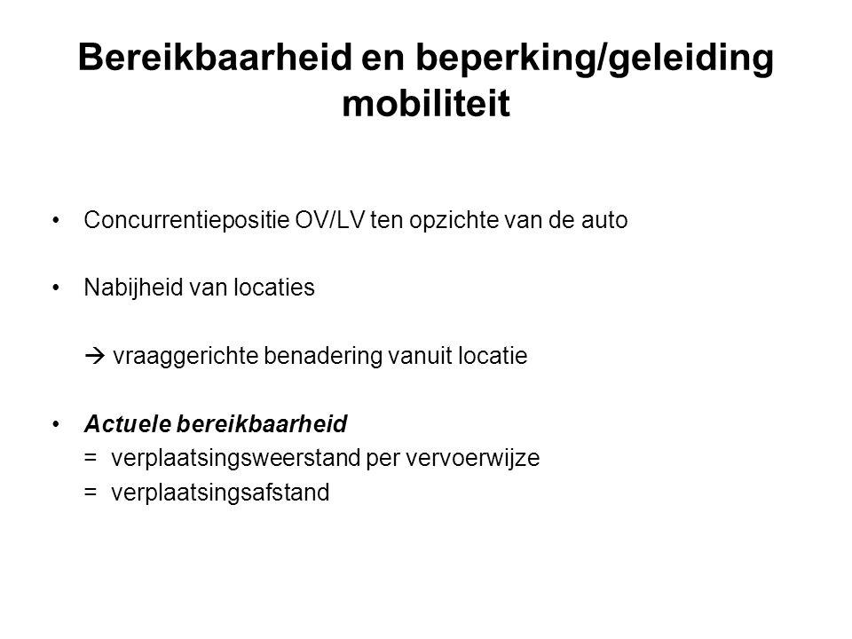 Bereikbaarheid en beperking/geleiding mobiliteit