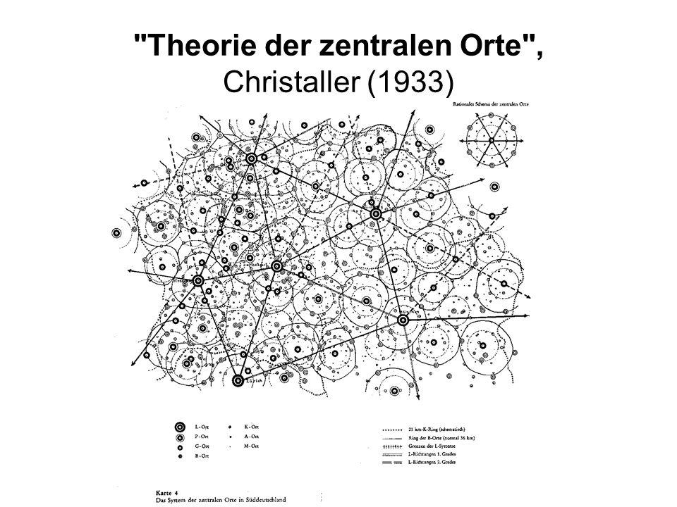 Theorie der zentralen Orte , Christaller (1933)