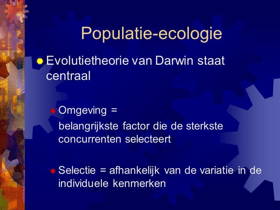 Populatie-ecologie Evolutietheorie van Darwin staat centraal