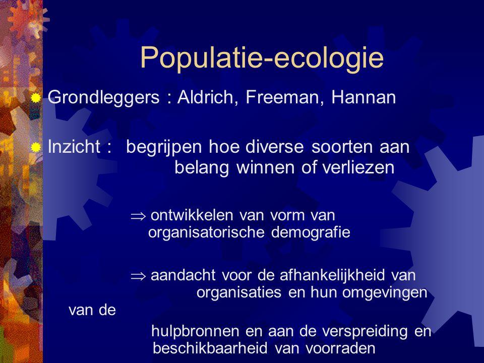 Populatie-ecologie Grondleggers : Aldrich, Freeman, Hannan