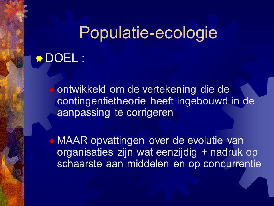 Populatie-ecologie DOEL :