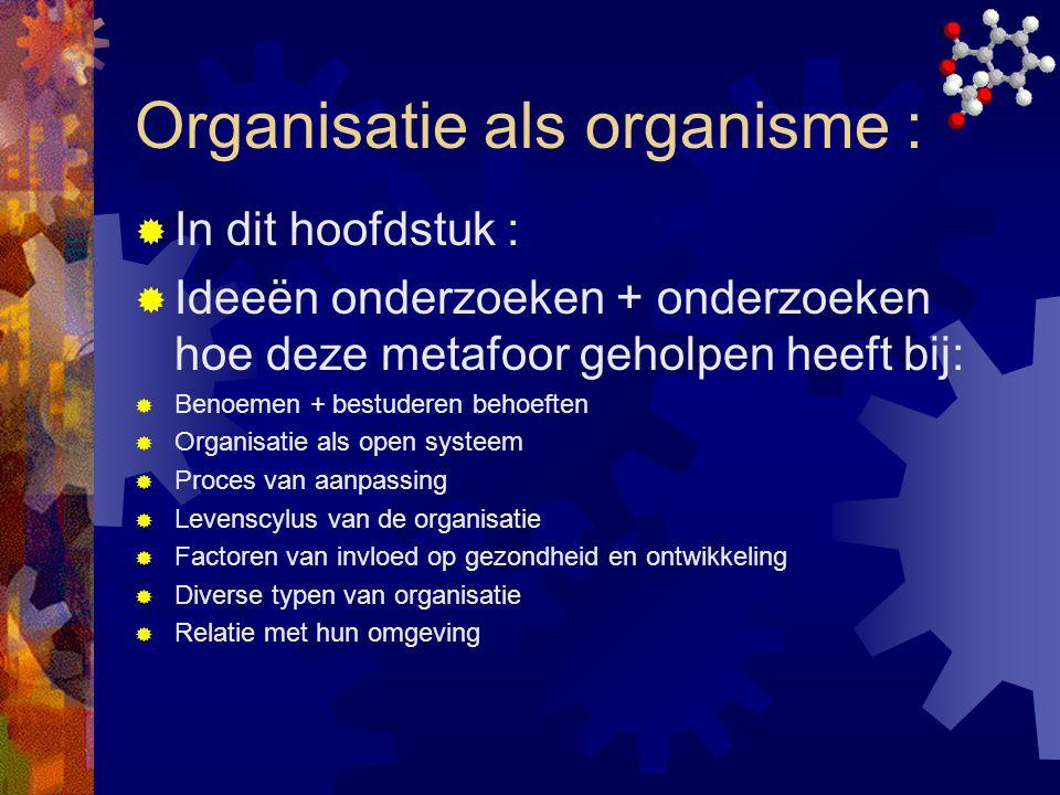 Organisatie als organisme :