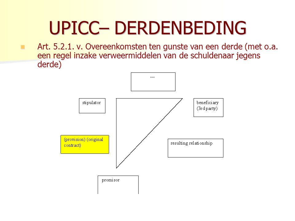 UPICC– DERDENBEDING
