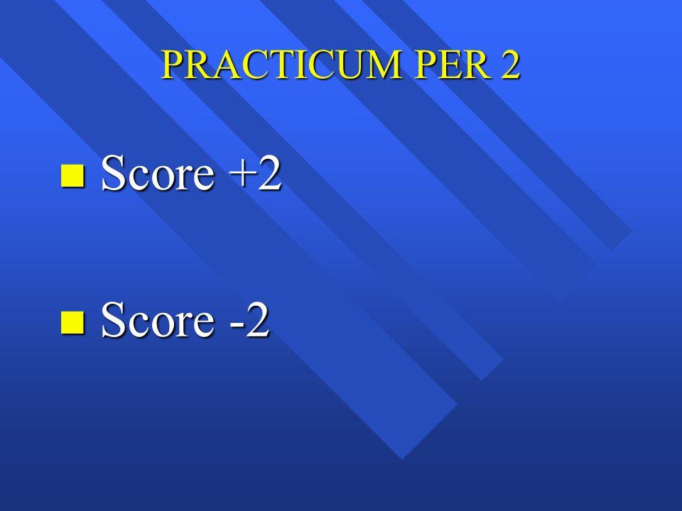 PRACTICUM PER 2 Score +2 Score -2