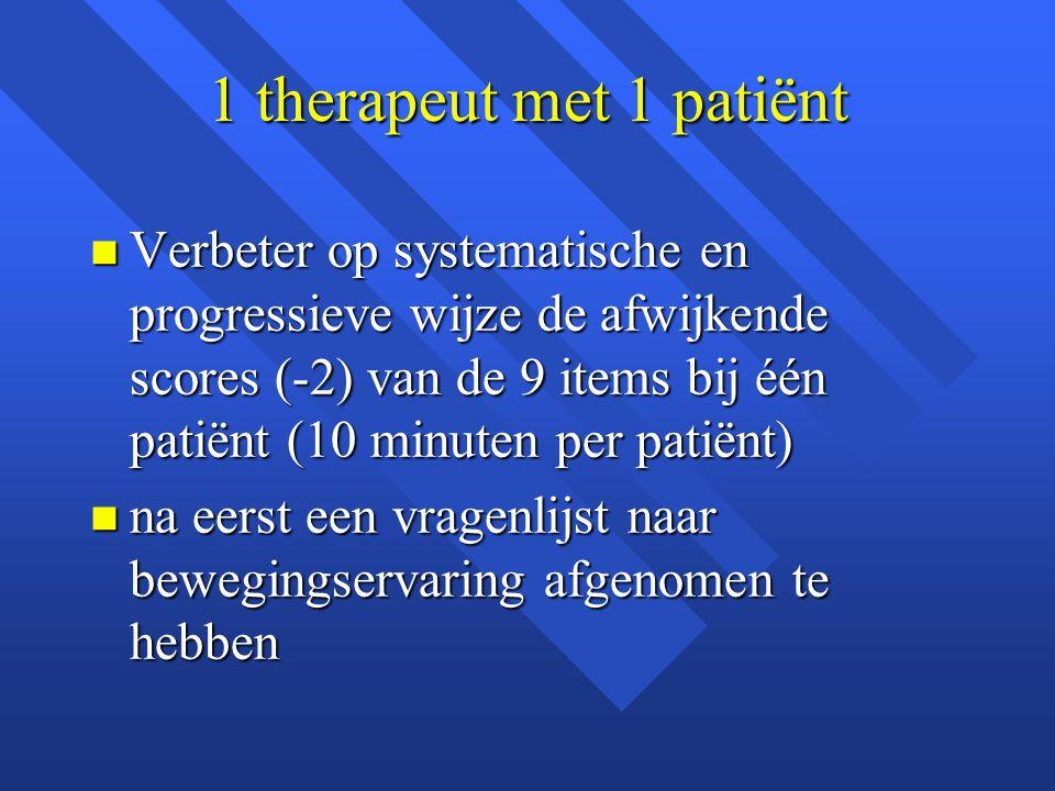 1 therapeut met 1 patiënt