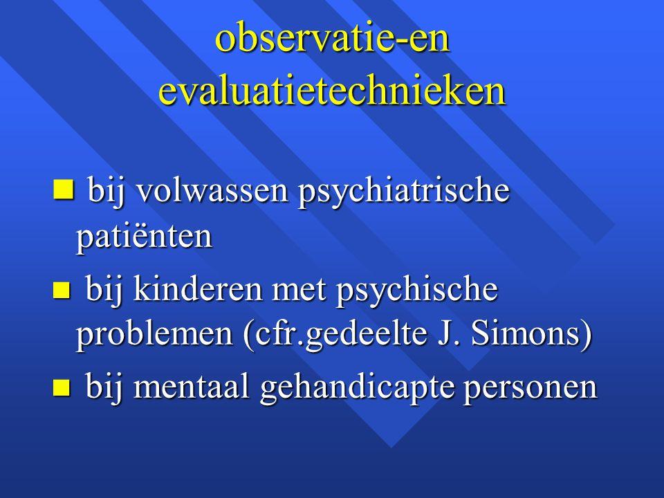 observatie-en evaluatietechnieken
