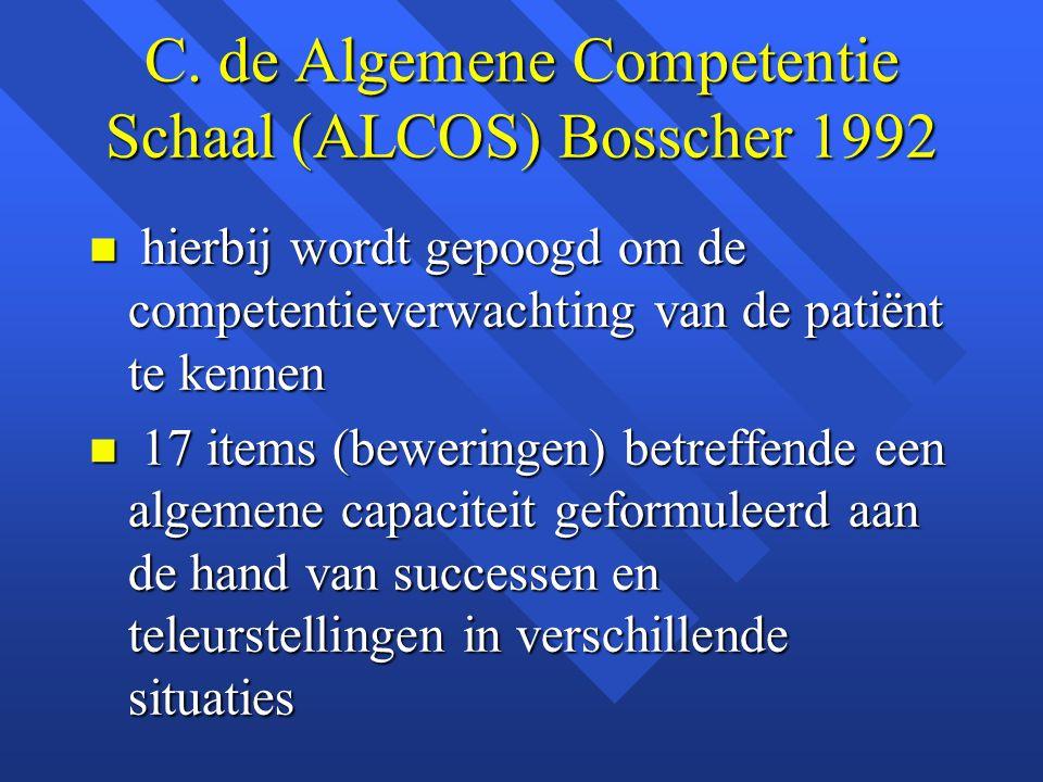 C. de Algemene Competentie Schaal (ALCOS) Bosscher 1992
