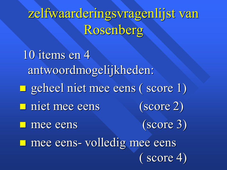 zelfwaarderingsvragenlijst van Rosenberg