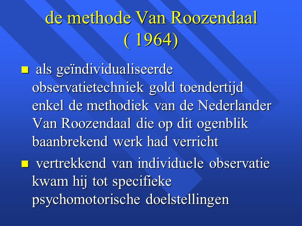 de methode Van Roozendaal ( 1964)