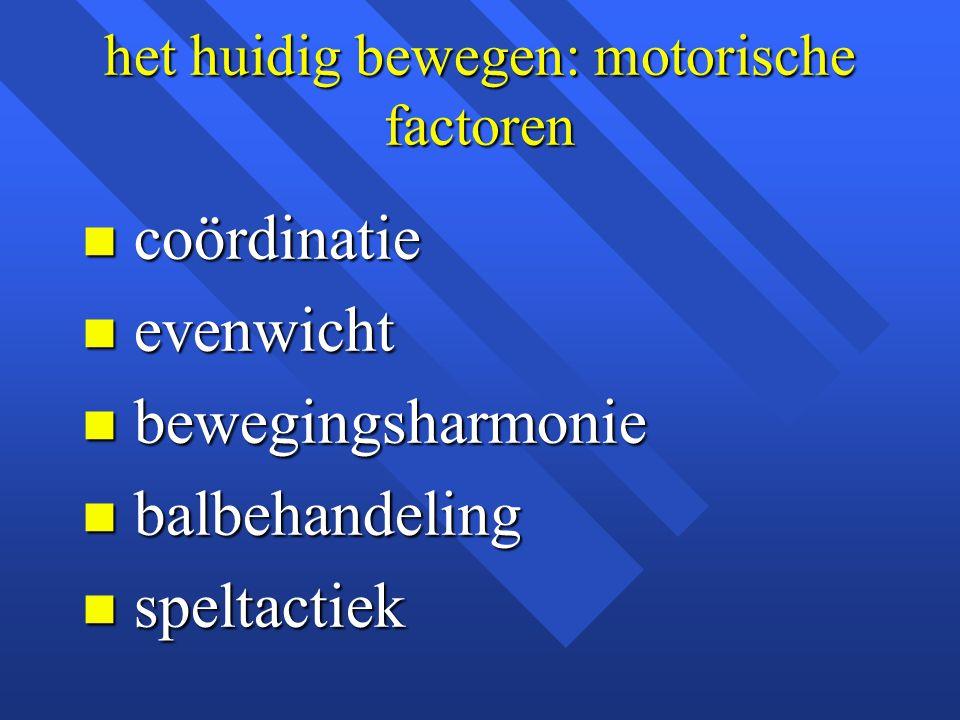 het huidig bewegen: motorische factoren