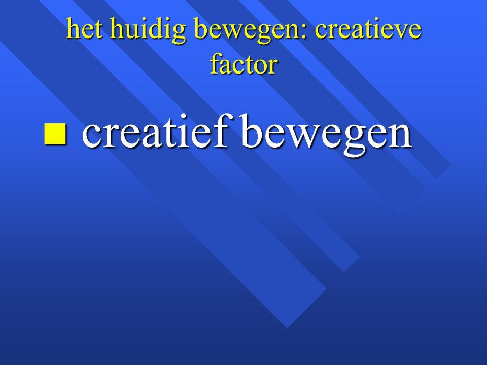 het huidig bewegen: creatieve factor
