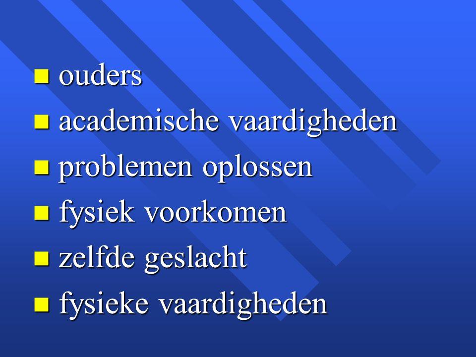 ouders academische vaardigheden. problemen oplossen.