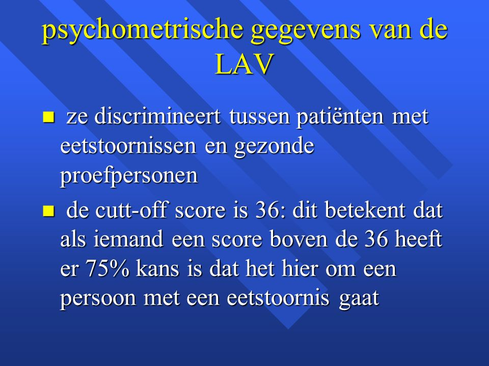 psychometrische gegevens van de LAV