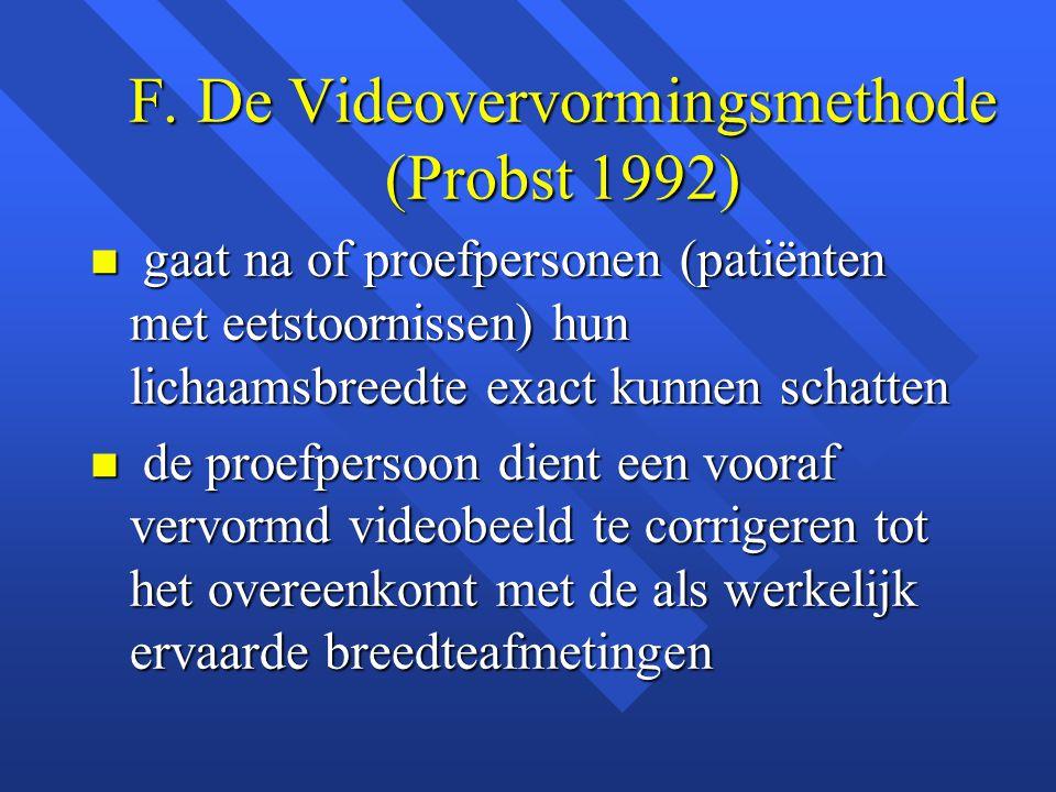 F. De Videovervormingsmethode (Probst 1992)