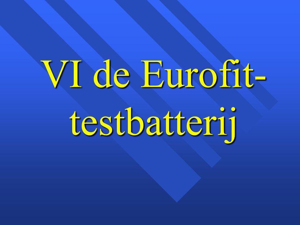 VI de Eurofit-testbatterij