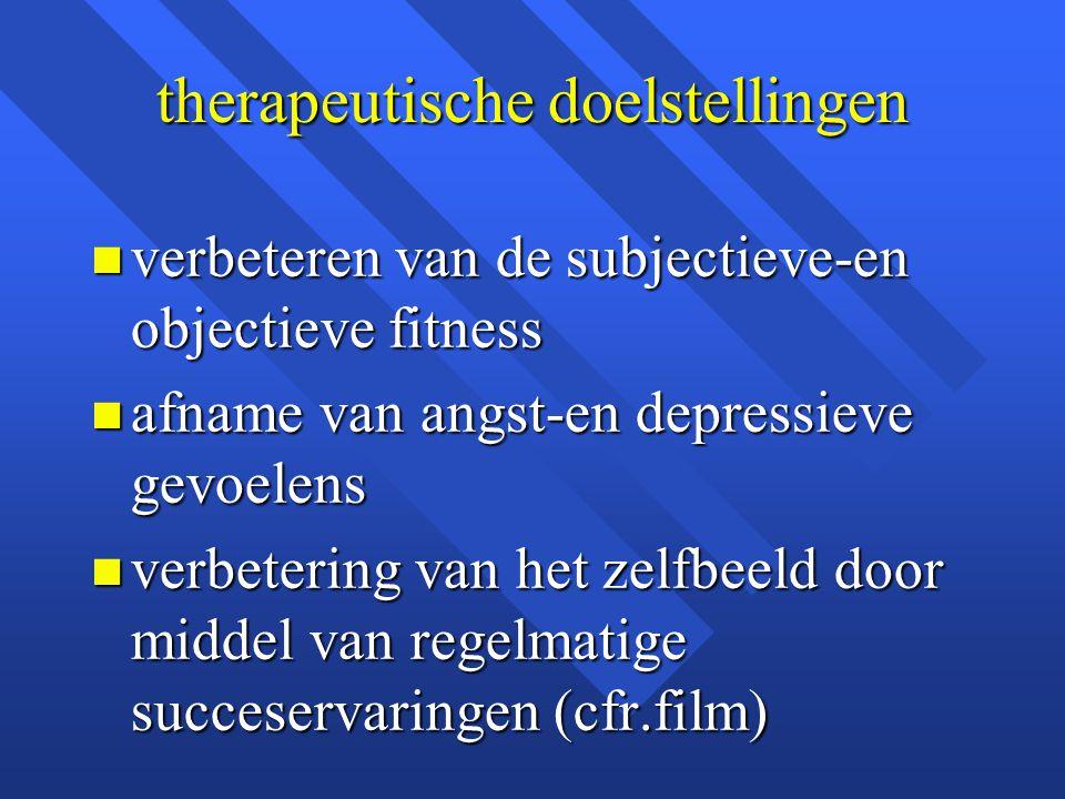 therapeutische doelstellingen