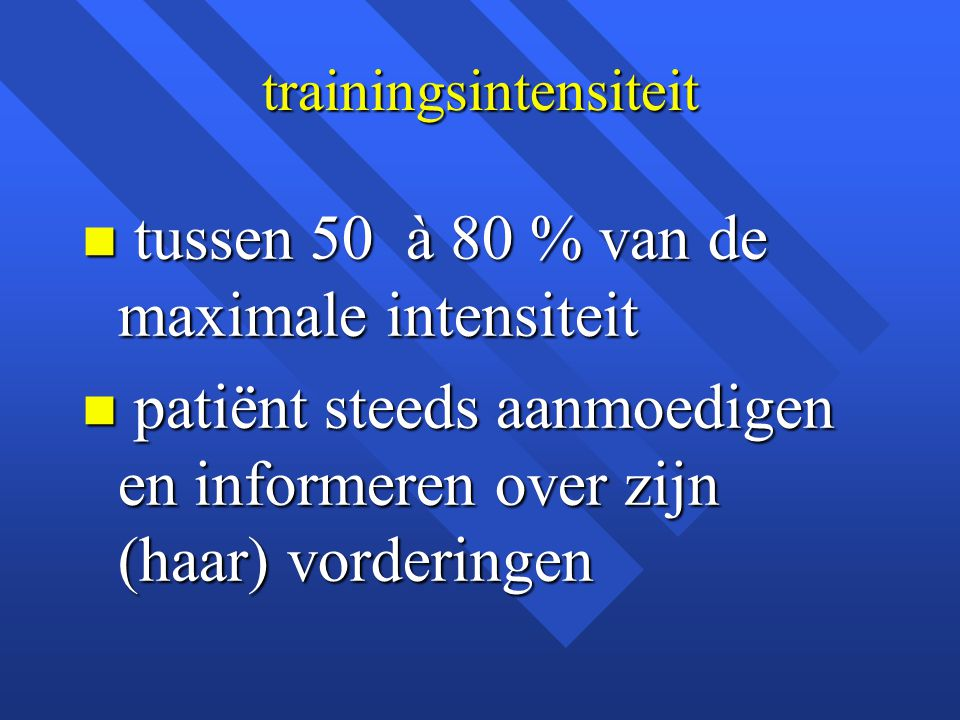 trainingsintensiteit