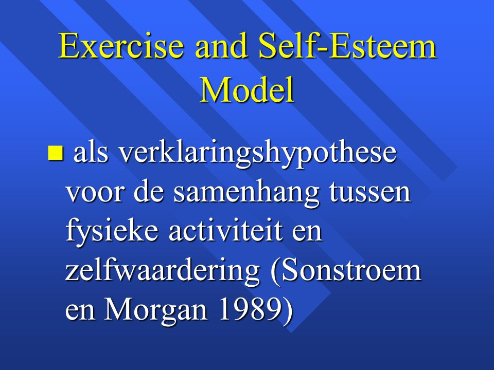 Exercise and Self-Esteem Model