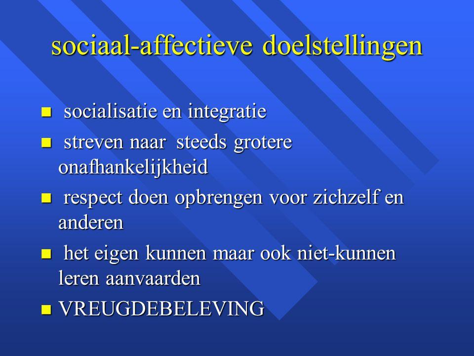 sociaal-affectieve doelstellingen