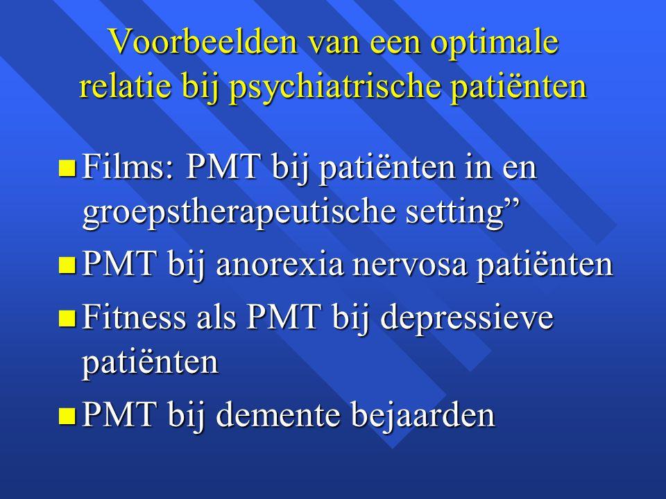 Voorbeelden van een optimale relatie bij psychiatrische patiënten