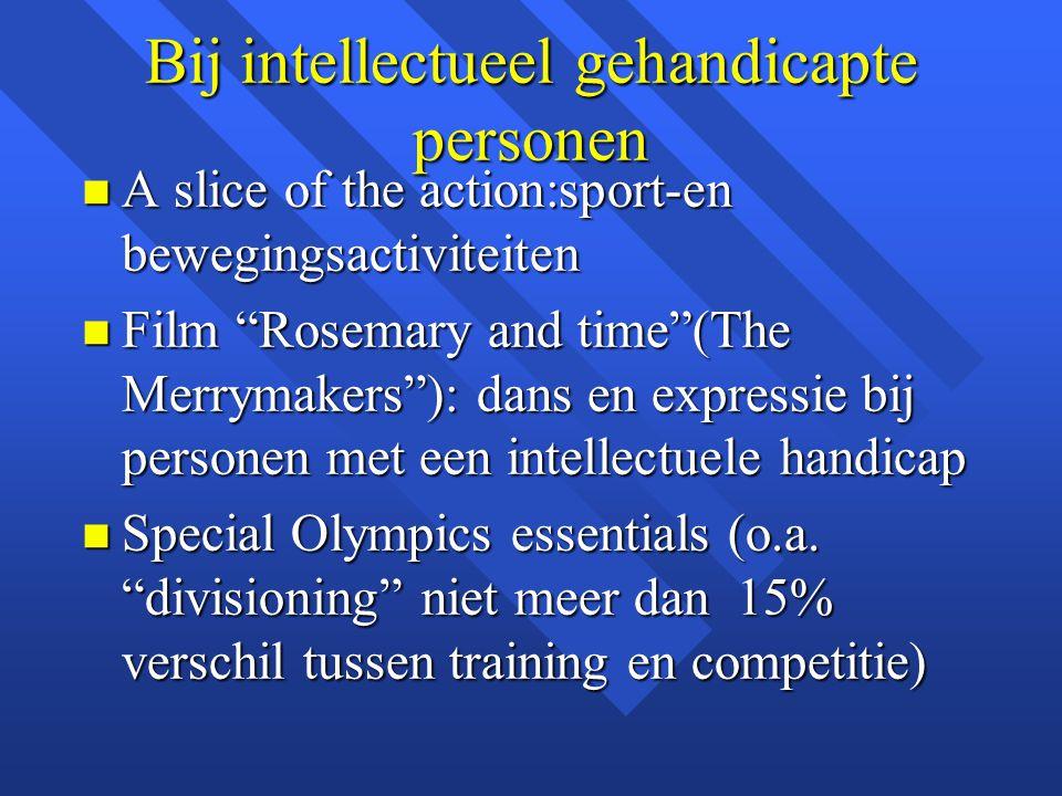 Bij intellectueel gehandicapte personen