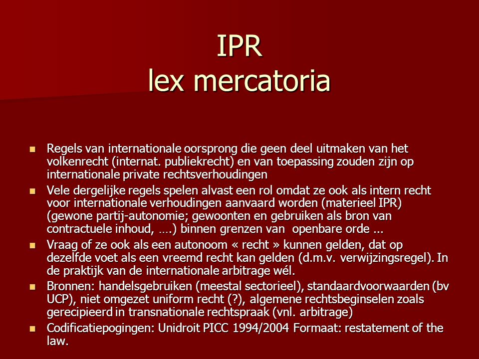 IPR lex mercatoria
