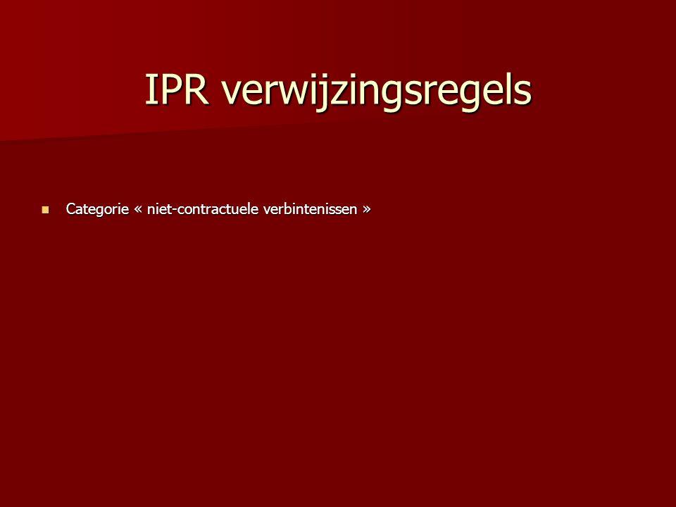 IPR verwijzingsregels