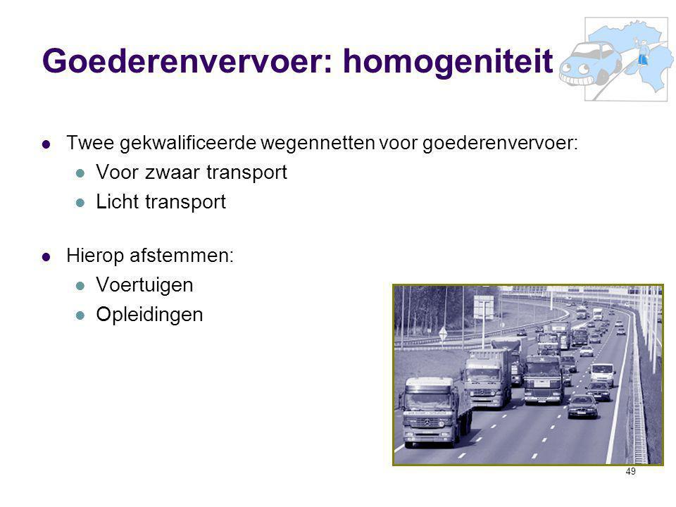 Goederenvervoer: homogeniteit