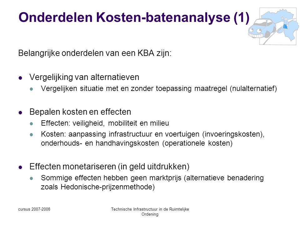 Onderdelen Kosten-batenanalyse (1)