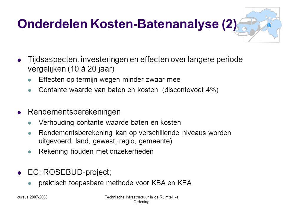Onderdelen Kosten-Batenanalyse (2)