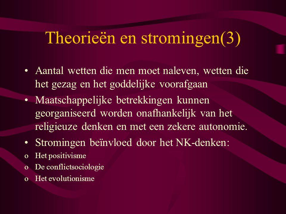 Theorieën en stromingen(3)