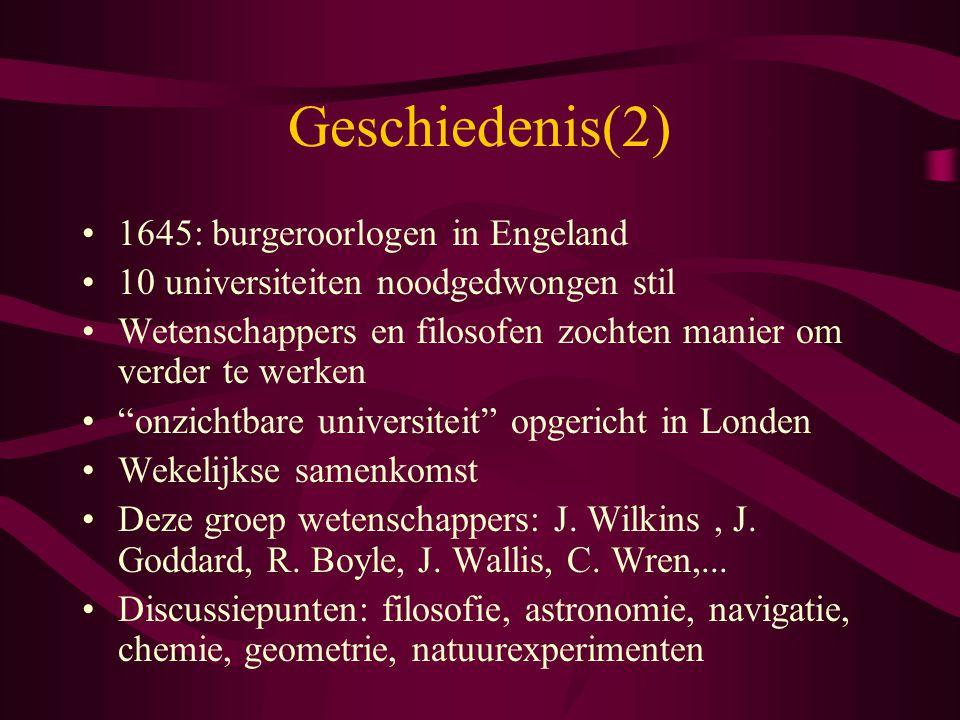 Geschiedenis(2) 1645: burgeroorlogen in Engeland