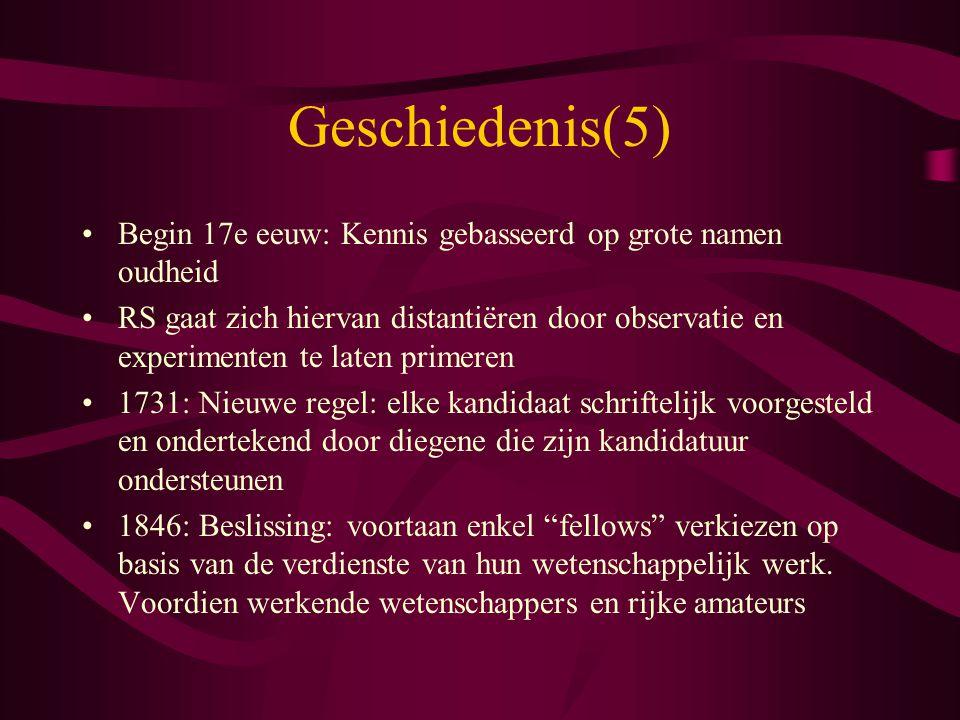 Geschiedenis(5) Begin 17e eeuw: Kennis gebasseerd op grote namen oudheid.