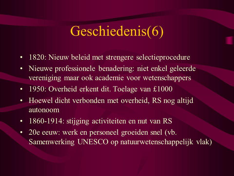 Geschiedenis(6) 1820: Nieuw beleid met strengere selectieprocedure