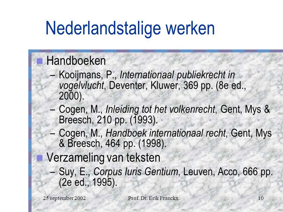 Nederlandstalige werken