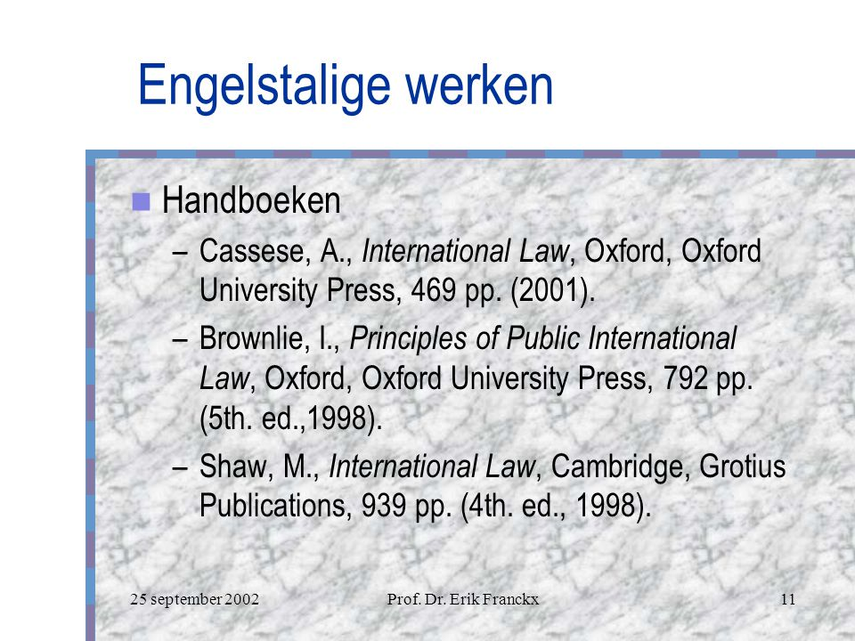 Engelstalige werken Handboeken