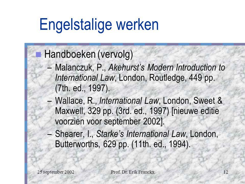 Engelstalige werken Handboeken (vervolg)