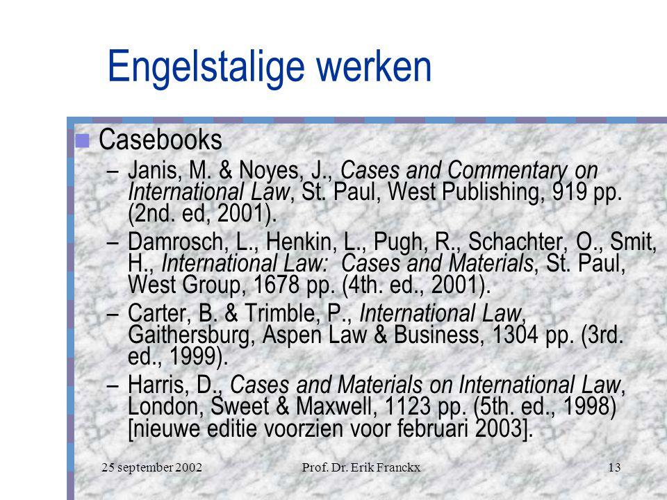 Engelstalige werken Casebooks