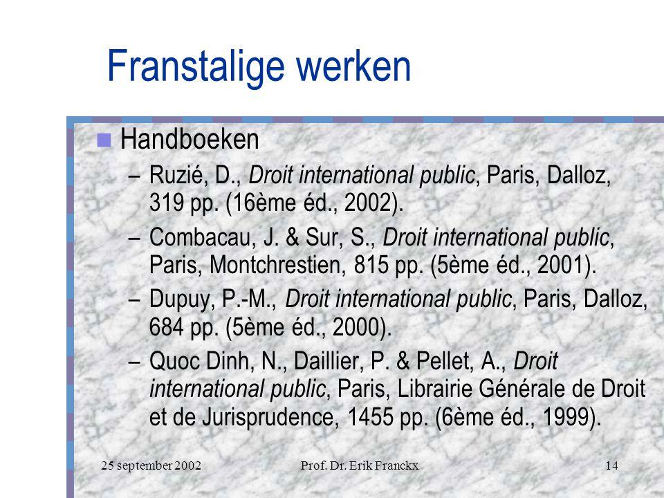 Franstalige werken Handboeken