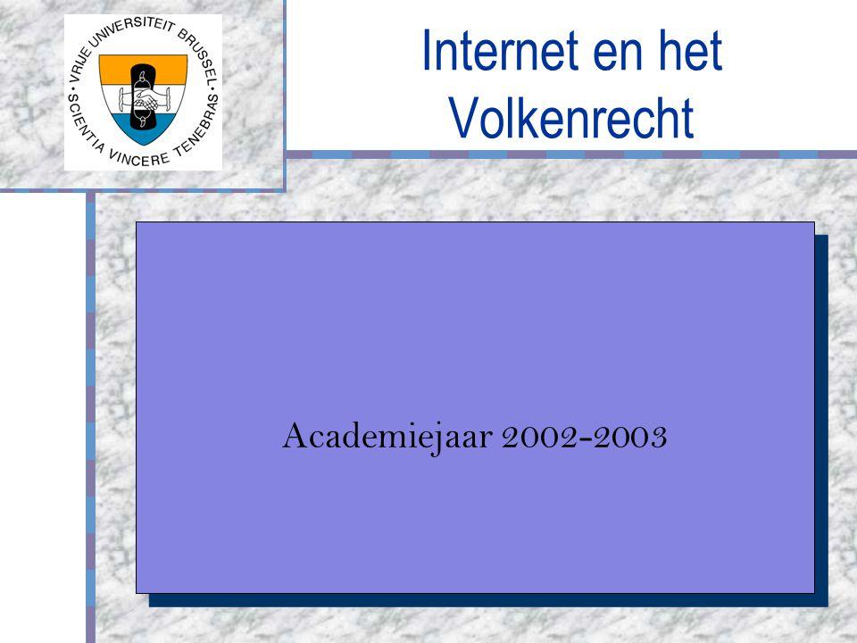 Internet en het Volkenrecht