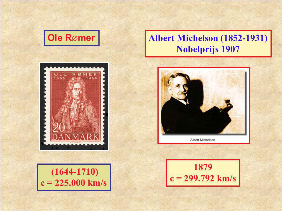 Ole Rmer Albert Michelson (1852-1931) Nobelprijs 1907.