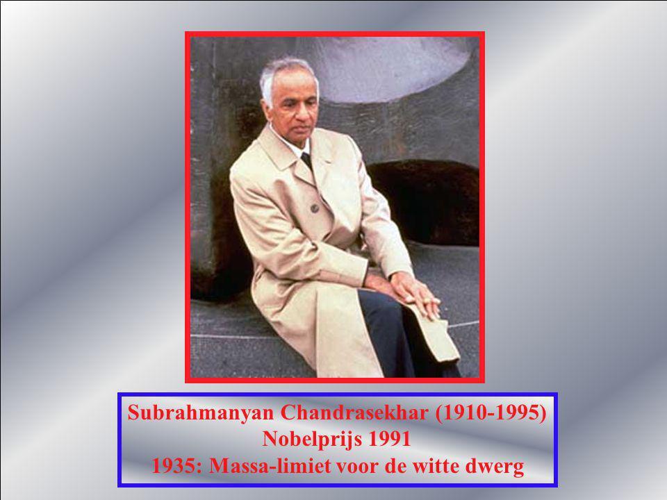 Subrahmanyan Chandrasekhar (1910-1995) Nobelprijs 1991