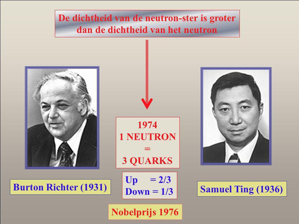 De dichtheid van de neutron-ster is groter
