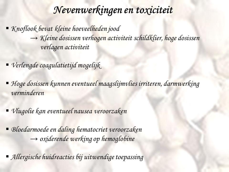 Nevenwerkingen en toxiciteit