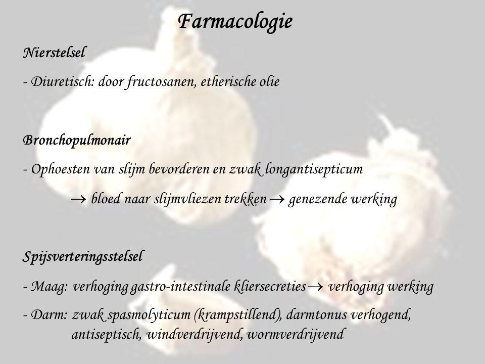 Farmacologie Nierstelsel
