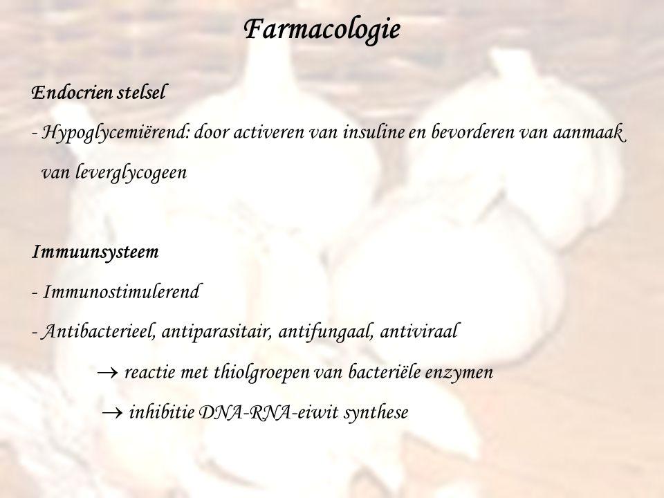 Farmacologie Endocrien stelsel