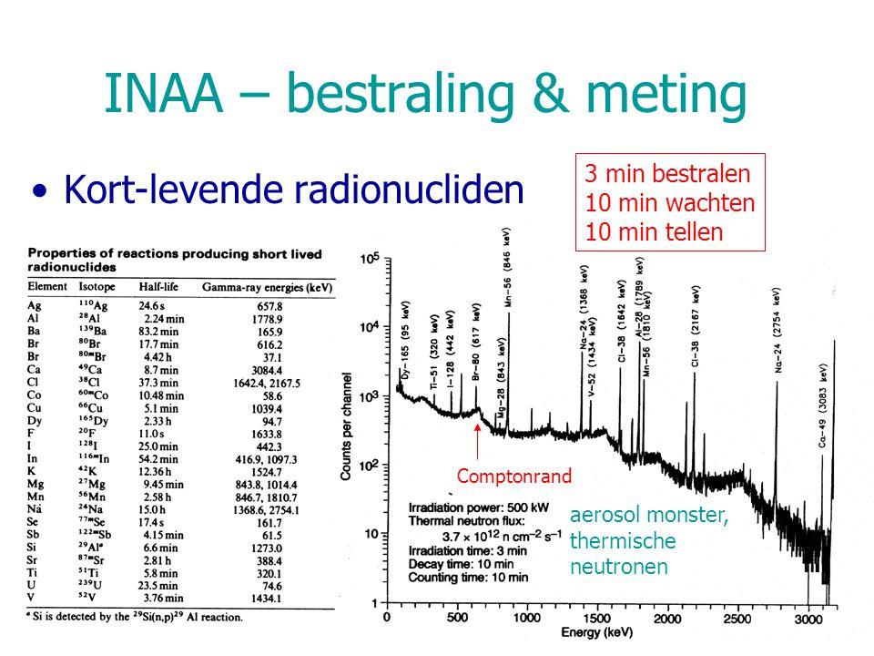 INAA – bestraling & meting