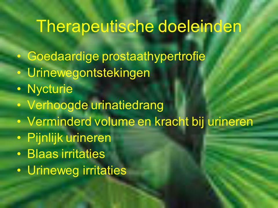 Therapeutische doeleinden