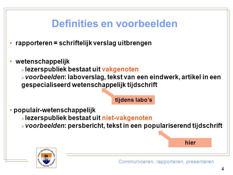 Definities en voorbeelden