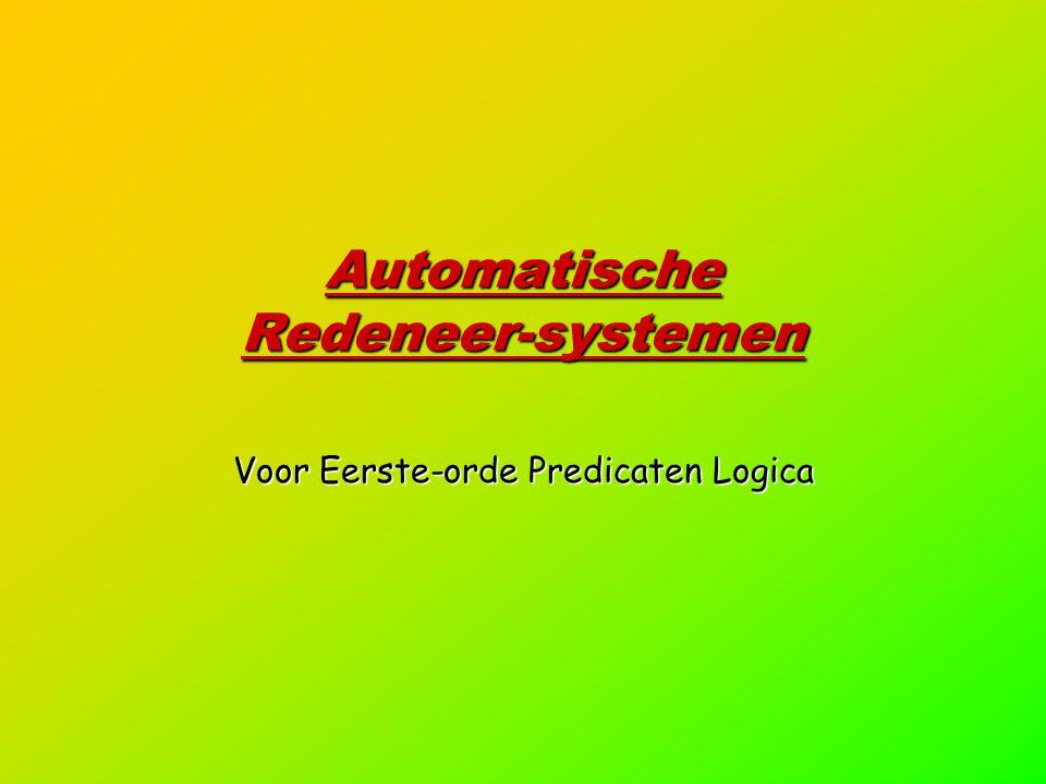 Automatische Redeneer-systemen